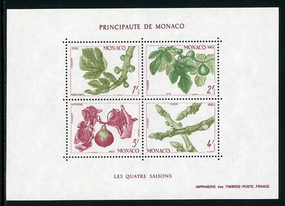Monaco Scott #1376 MNH S/S Plants The Four Seasons FLORA CV$8+