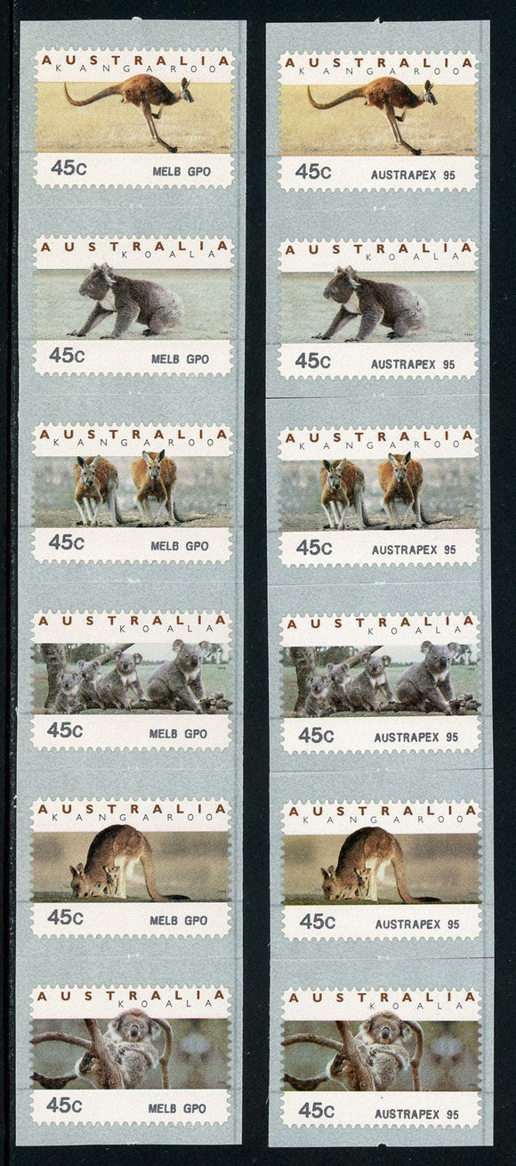 Australia Scott #1295a MNH Counter print Threatened Species 2 Varieties CV$16+