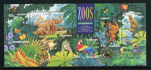 Australia Scott #1389e MNH S/S FAUNA OVPT Freemantle Convention Center CV$12+