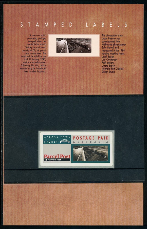 Australia MNH SOUVENIR FOLDER Stamped Labels $$ (OS-43)