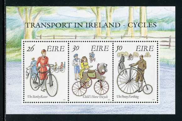 Ireland Scott #826a MNH S/S Transportation in Ireland Cycles CV$4+