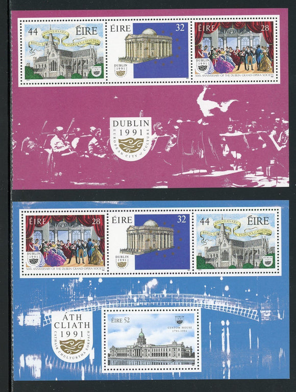 Ireland Scott #830a//831a MNH PANES (2) Dublin European City of Culture CV$10+