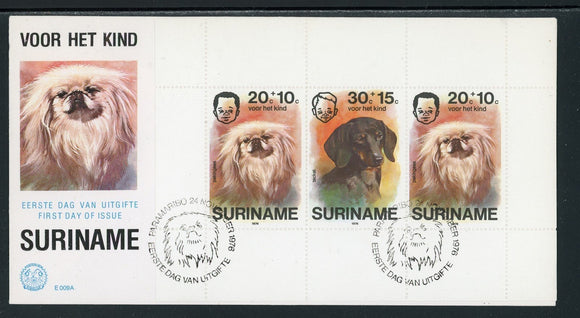 Surinam Scott #B233a FIRST DAY COVER Dogs and Children $$