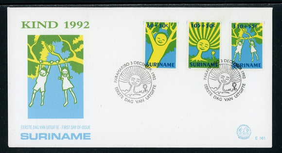 Surinam Scott #B392-B394 FIRST DAY COVER Children's Drawings $$