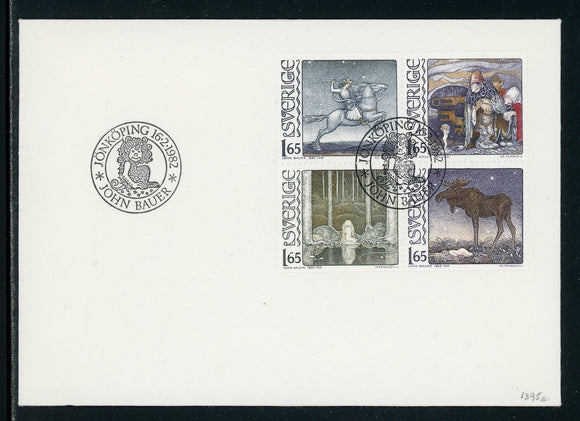 Sweden Scott #1395a FIRST DAY COVER John Bauer's Fairy Tales $$
