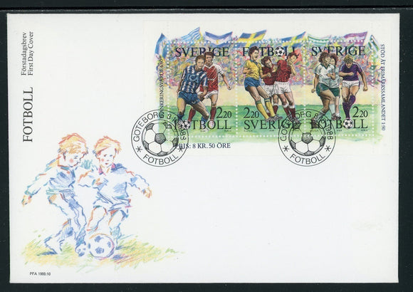 Sweden Scott #1708a FIRST DAY COVER Soccer Scenes SPORTS $$