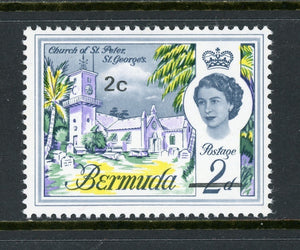 Bermuda Scott #239a MNH OVPT 2c on 2p WMK 314 Upright $$