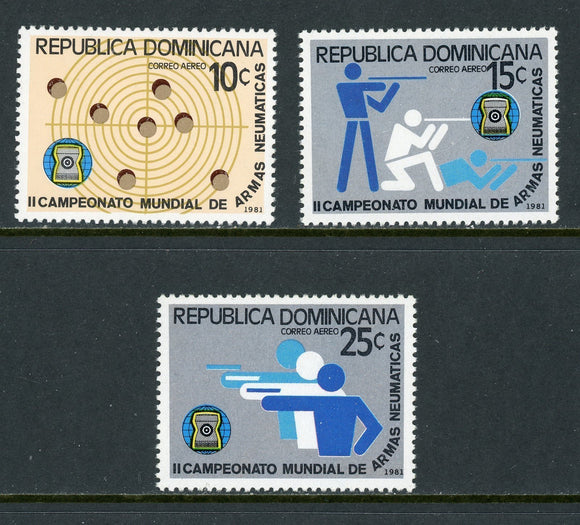 Dominican Republic Scott #C338-C340 MNH World Sharpshooting Competition SPORT $$