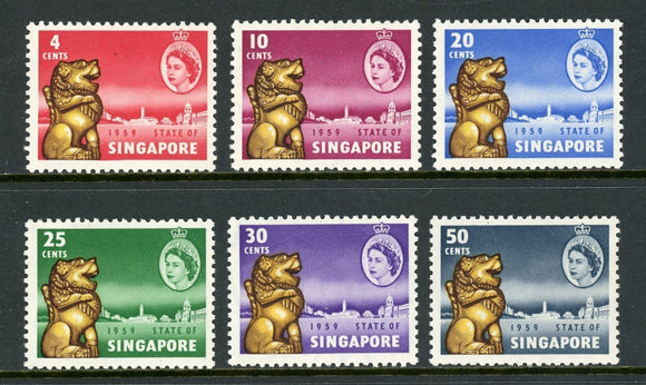 Singapore Scott #43-48 MNH New Constitution of Singapore CV$13+