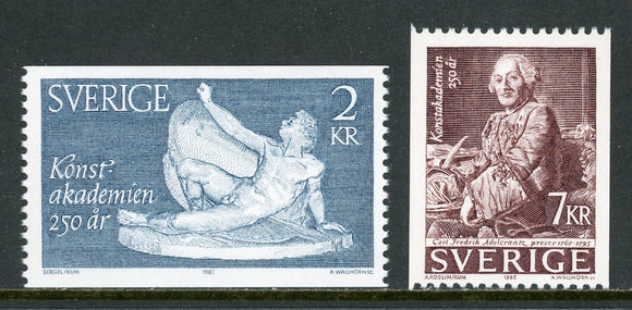 Sweden Scott #1551-1552 MNH Royal Academy of Fine Arts ANN CV$5+