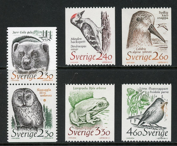 Sweden Scott #1723-1728 MNH Endangered Species FAUNA CV$8+