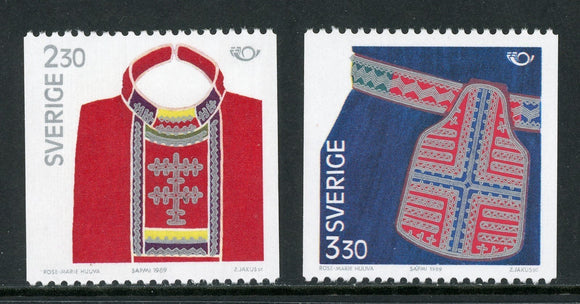 Sweden Scott #1733-1734 MNH Nordic Cooperation Issue Folk Costumes $$