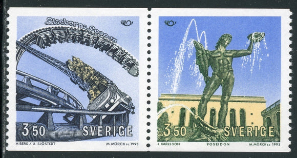 Sweden Scott #1994a MNH PAIR Tourist Attractions in Göthenburg CV$4+