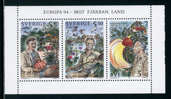 Sweden Scott #2090a MNH PANE Europa 1994 Swedish Explorers CV$7+