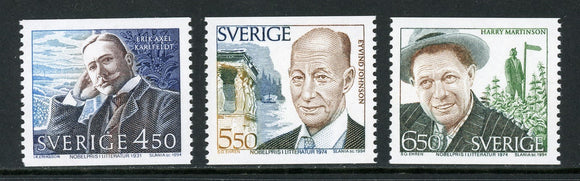 Sweden Scott #2102-2104 MNH Nobel Laureates for Literature CV$9+
