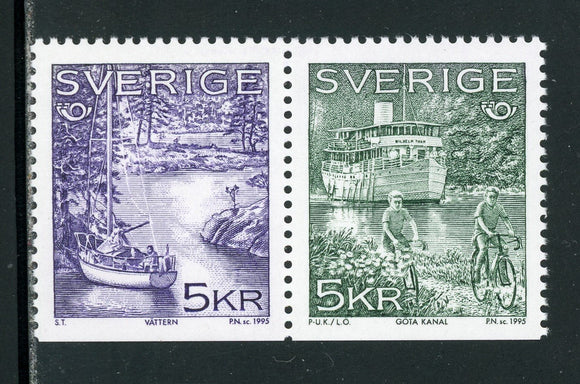 Sweden Scott #2125-2126 MNH PAIR Tourist Attractions CV$4+