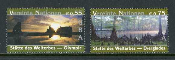 UN-Vienna Scott #338-339 MNH World Heritage Sites United States $$
