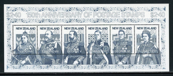 New Zealand Scott #1003 MNH S/S 1st Postage Stamps 150th ANN CV$5+