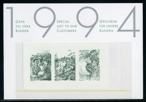 Sweden PROOF European Explorers BLACKPRINT 1994 Postal Gift $$ (OS-18)