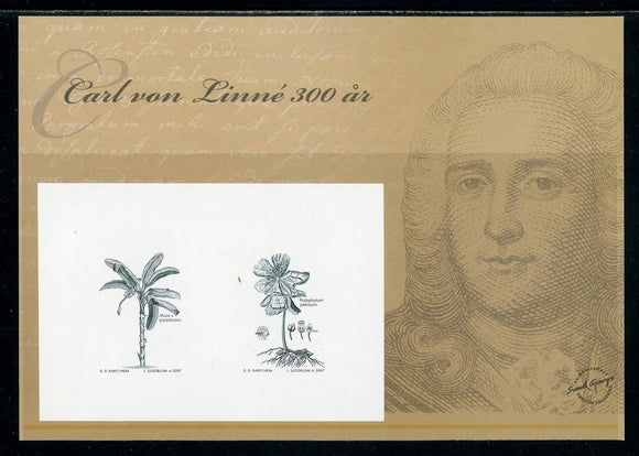 Sweden PROOF Linnaeus BLACKPRINT 2007 $$ (OS-22)