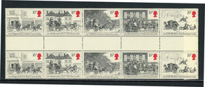 Great Britain Scott #1066a MNH GUTTER PAIRS Mail Coaches $$