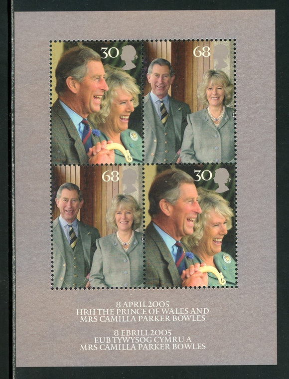 Great Britain Scott #2279 MNH S/S Wedding of Prince Charles to Ms Bowles CV$6+
