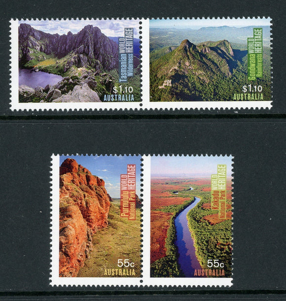Australia Scott #3264-3267 MNH UNESCO World Heritage Sites CV$6+