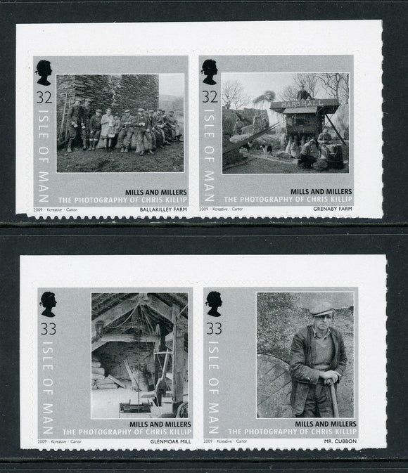 Isle of Man Scott #1307-1310 SA Photographs of Mills and Millers $$