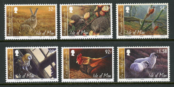 Isle of Man Scott #1328-1333 MNH Paintings of Wildlife by Jeremy Paul CV$12+
