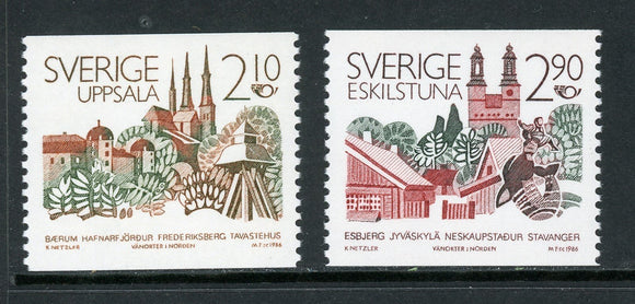 Sweden Scott #1603-1604 MNH Nordic Cooperation 1986 $$