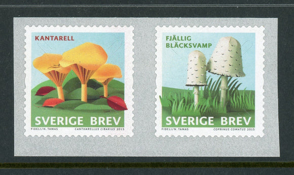 Sweden Scott #2759-2760 SA Mushrooms FLORA $$