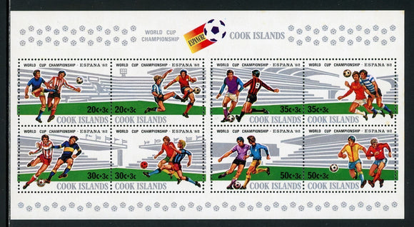 Cook Islands Scott #B96 MNH S/S WORLD CUP 1982 Spain Soccer Football CV$6+