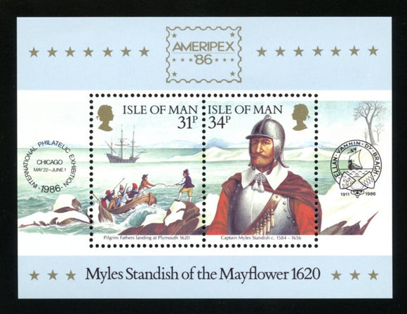 Isle of Man Scott #311a MNH S/S Ameripex'86 Stamp EXPO CV$2+