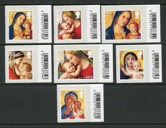 Great Britain Scott #3239-3245 MNH Christmas 2013 CV$20+