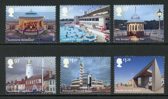 Great Britain Scott #3321-3326 MNH Seaside Architecture CV$17+