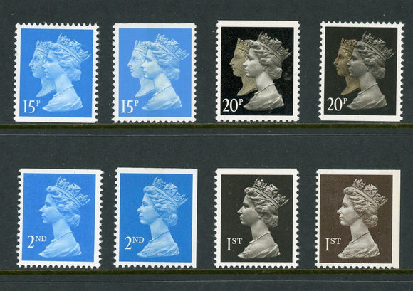 Great Britain OS #170 MNH Machin Assortment Queens Elizabeth and Victoria $$