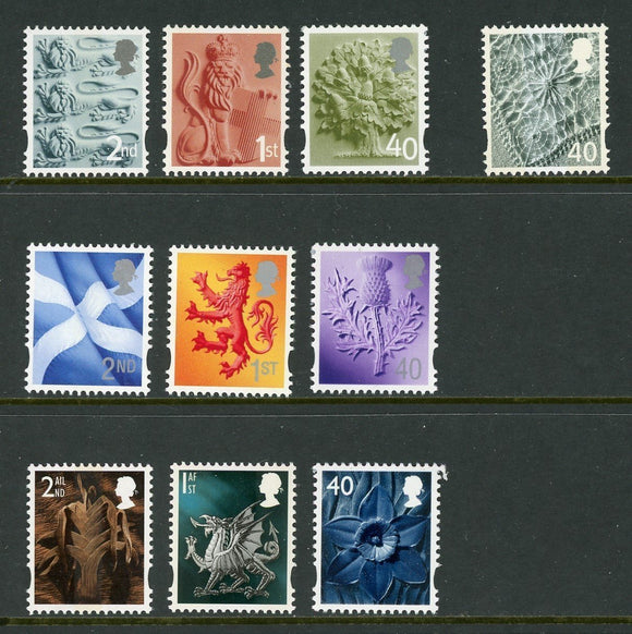 Great Britain Regionals OS #1 MNH Definitives Assortment $$
