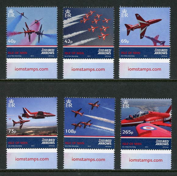 Isle of Man Scott #1627-1632 MNH Red Arrow Airplanes AVIATION CV$16+