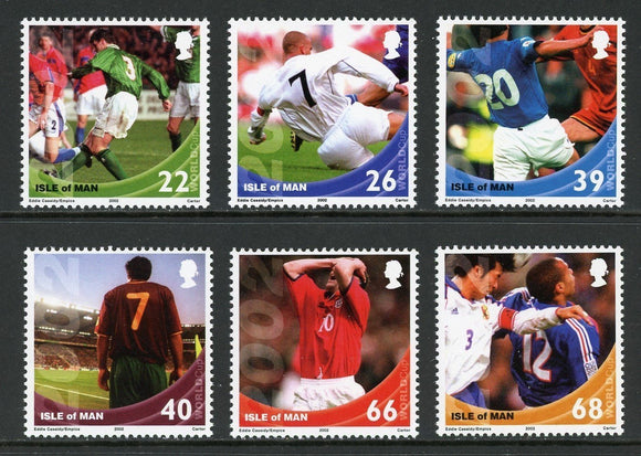 Isle of Man Scott #954-959 MNH WORLD CUP 2002 Korea/Japan Soccer Football CV$8+