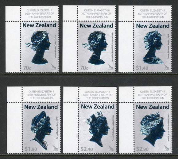 New Zealand Scott #2461-2466 MNH Queen Elizabeth II Coronation 60th ANN CV$16+