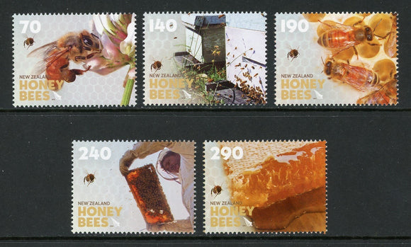 New Zealand Scott #2469-2473 MNH Honey Bees FAUNA CV$15+