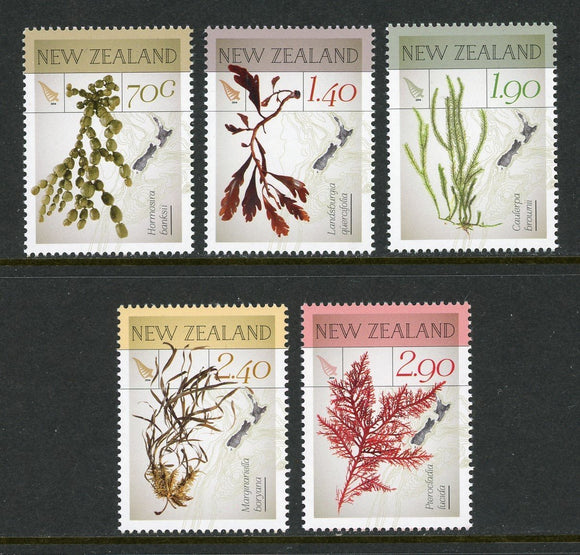 New Zealand Scott #2501-2505 MNH Seaweeds FLORA CV$15+