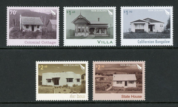 New Zealand Scott #2506-2510 MNH Houses CV$15+