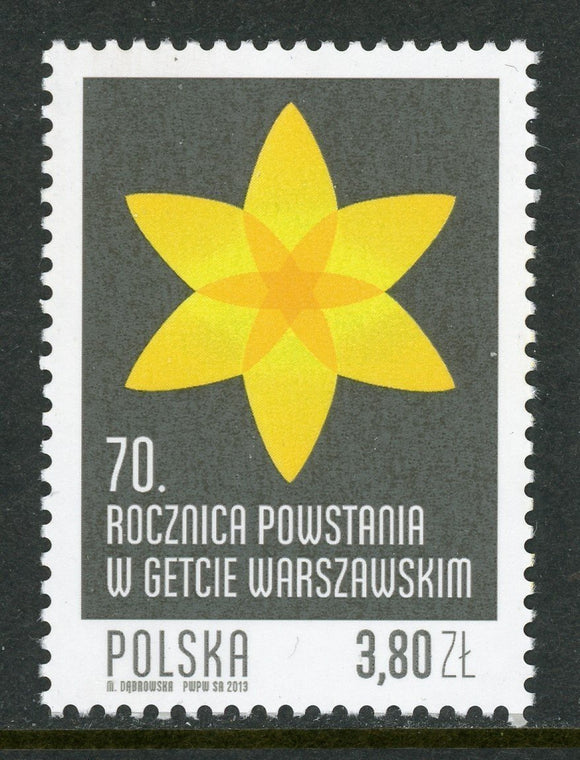 Poland Scott #4076 MNH Warsaw Ghetto Uprising 70th ANN CV$2+