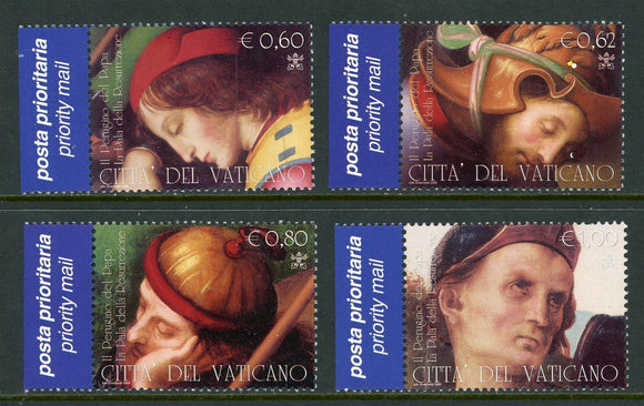 Vatican Scott #1303-1306-1 MNH Resurrection of Christ by Perugino ART CV$7+