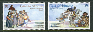 Vatican Scott #1480-1481 MNH Heliodorous Frescoes by Raphael 500th ANN CV$7+
