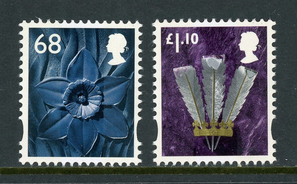 Wales & Monmouthshire Scott #38-39 MNH 2011 Definitives CV$5+
