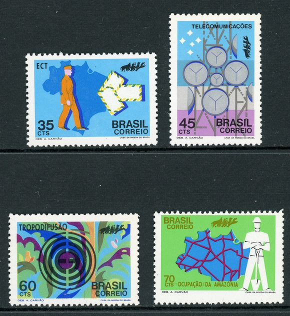 Brazil Scott #1223-1226 MNH Communications in Brazil CV$3+