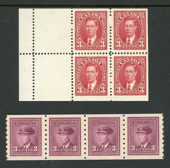 Canada Assortment #31 MNH King George VI COILS and PANE $$