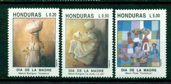 Honduras Scott #367-369 MNH Mother's Day ART CV$4+